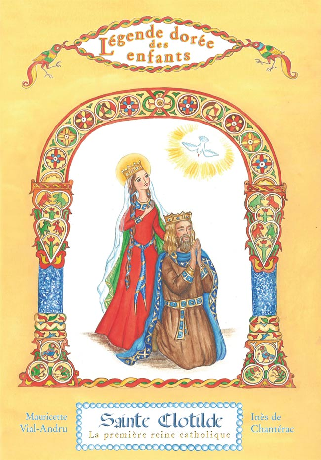 Sainte Clotilde dans Légende dorée des enfants couverture-ste-Clotilde