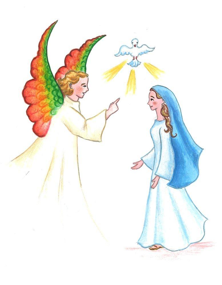 Marie dans images religieuses annociation-mail