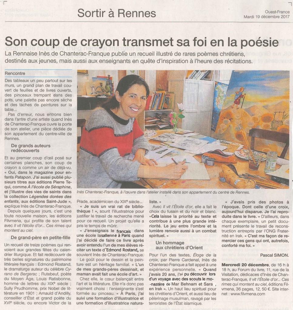 article Ouest France19 decembre 2017